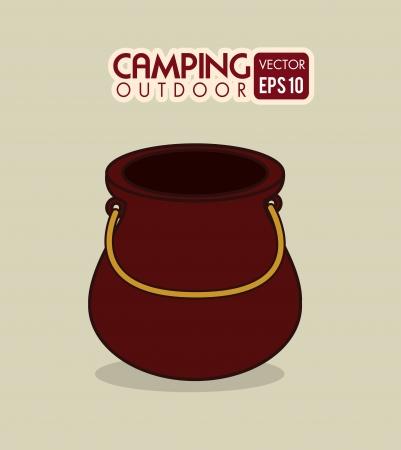 cocking: camping design over beige background vector illustration Illustration