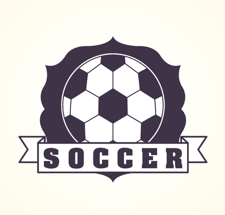 soccer design over white illustration Vector