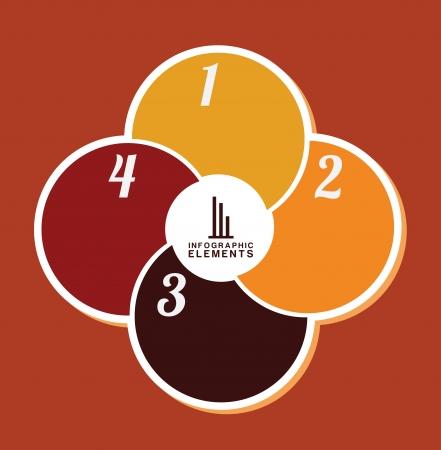 determinants: infographics design over orange illustration