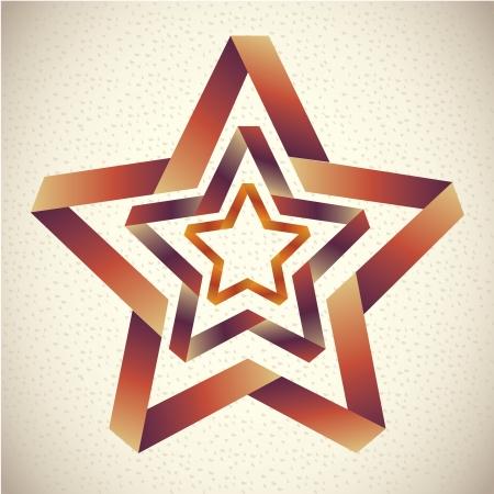 glowing skin: dise�o de la estrella sobre el patr�n de la ilustraci�n