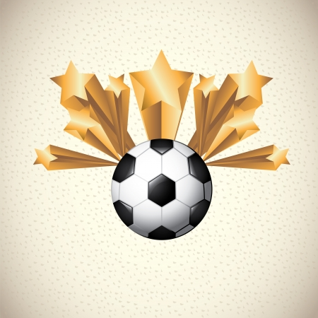 soccer design over pattern illustration Vector