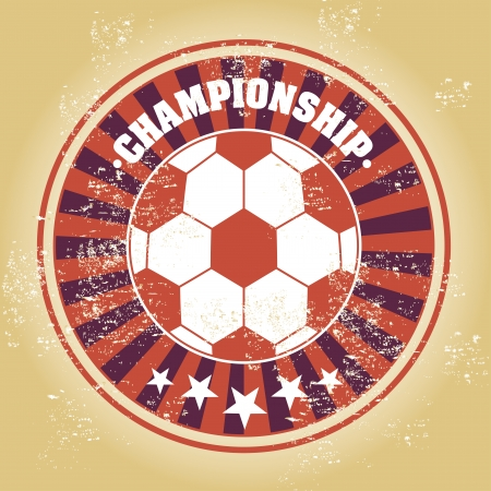 soccer design over vintage illustration Vector