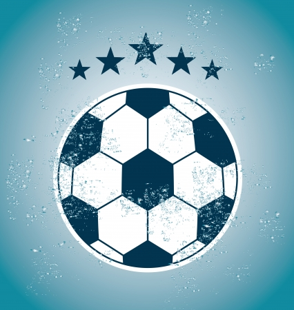 soccer design over blue illustration Vector