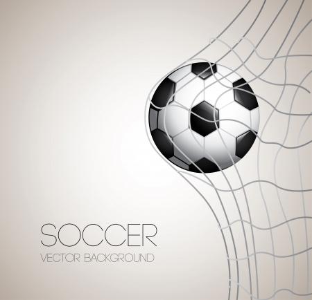 Diseño del fútbol sobre gris ilustración Foto de archivo - 24504661