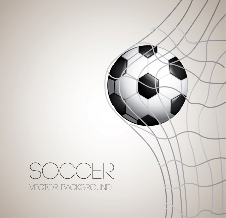 footballs: soccer design over gray illustration