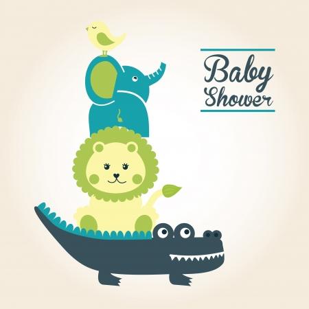 leon bebe: dise�o del beb� sobre rosa ilustraci�n