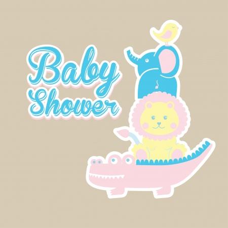 baby design over  beige illustration