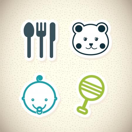 baby design over pattern illustration Vector