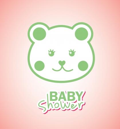 baby design over pink illustration Vector