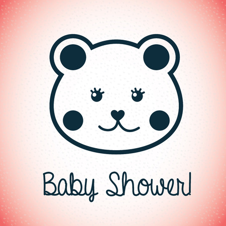 baby design over pink illustration Vector