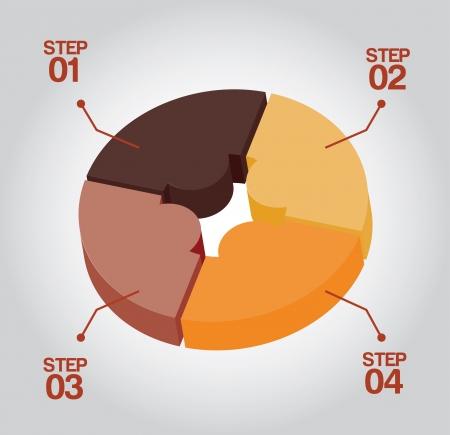 determinants: infographics design over gray illustration  Illustration