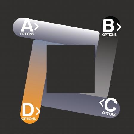 determinants: infographics design over black illustration