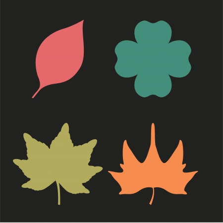 autumn design over black illustration Vector