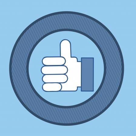 nonverbal: hands gesture over blue illustration