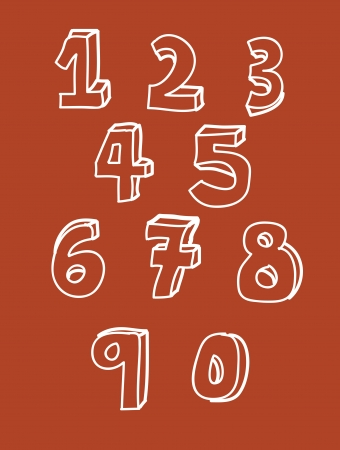 numbers design over orange background vector illustration Vector