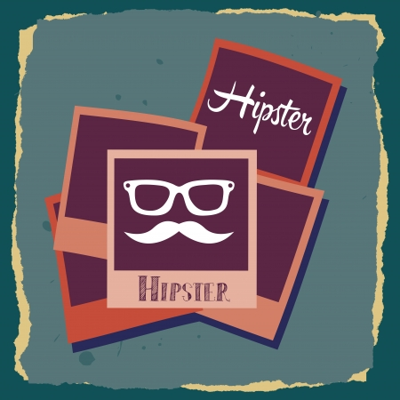 hipster design over blue  background vector  illustration   Vector
