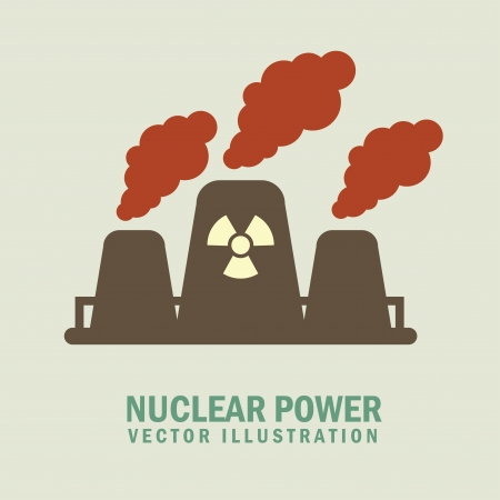 nuclear,power over gray background vector illustration Stock Vector - 24612850