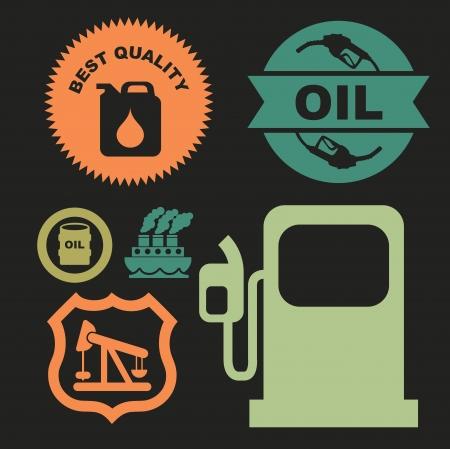 combust: oil industry over black background vector illustration Illustration