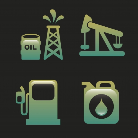 oil industry over black background vector illustration Vector