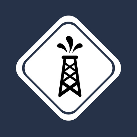 combust: oil industry over blue background vector illustration
