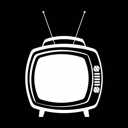 diversion: tv retro design over black  background vector illustration