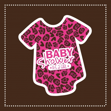baby design over brown background vector illustration Vector