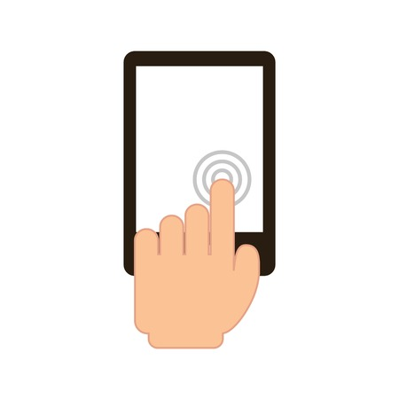touch screen over white background vector illustration Stock Vector - 24613023