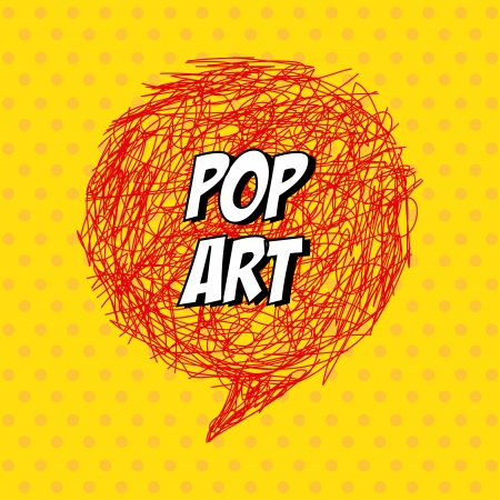 pop art explosion over dotted background. vector illustration Stock Vector - 24613026