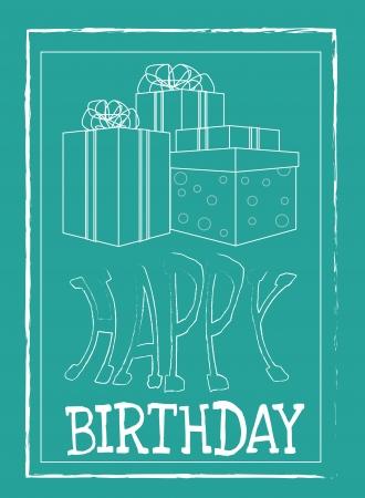 backgrund: birthday  design over blue backgrund vector illustration  Illustration