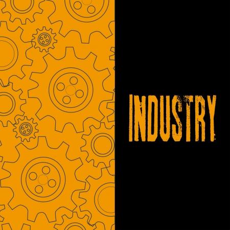 industry design over orange background vector illustration  Vector