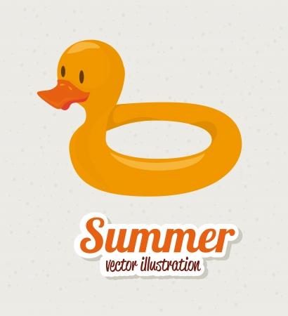 lifeline: summer design over gray  background vector illustration