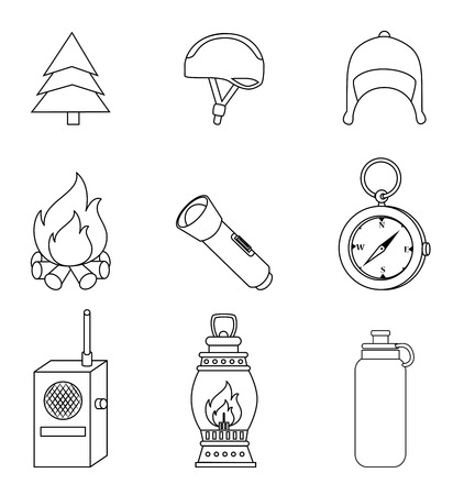 camping design over white background vector illustration Vector