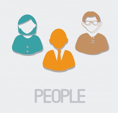 people design  over  white  background vector illustration  Illustration