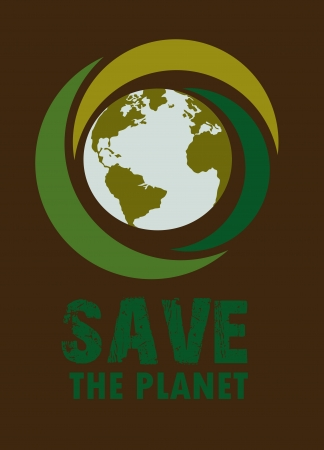 enviromental: eco design over brown background vector illustration