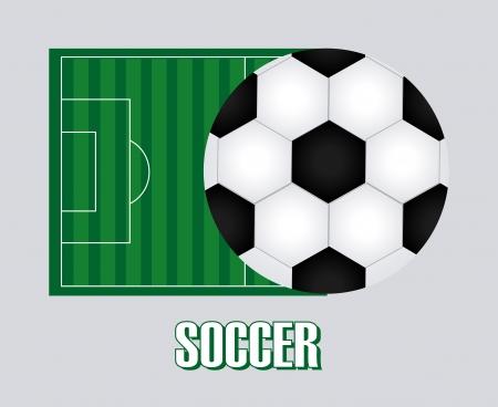 soccer design over  gray background  vector illustration Stock Vector - 24614598