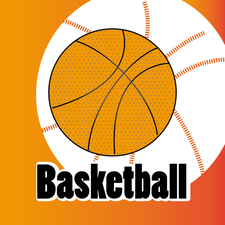 basketball design over orange  background vector illustration  Vector