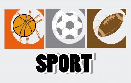 balon baloncesto: dise�o deportivo sobre fondo gris ilustraci�n vectorial Vectores