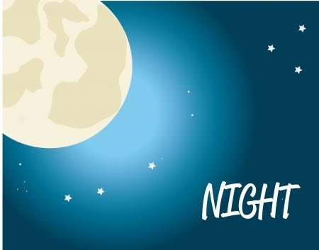 nochebuena: buen dise�o la noche sobre el cielo de fondo ilustraci�n vectorial