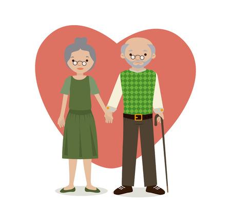 grandparents over white background vector illustration Vector