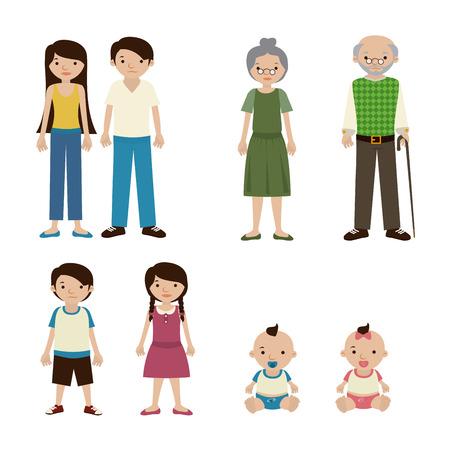 blissful: family design over white background vector illustration