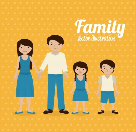 family design over yellow background vector illustration Vector