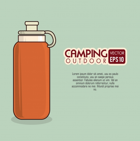 camping design over blue background vector illustration Vector