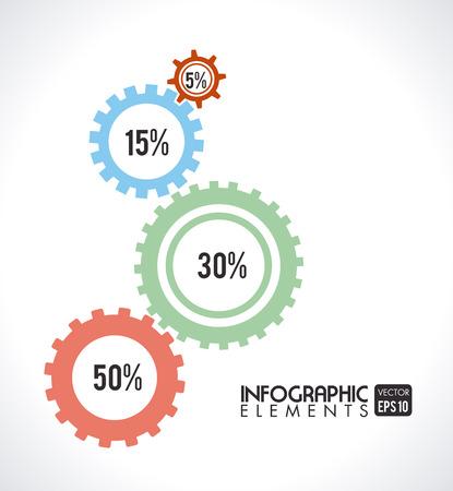 consept: gears design over background vector illustration