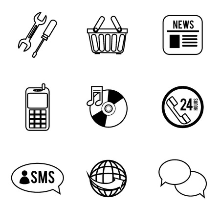 variety: variety of icons over white background vector illustration