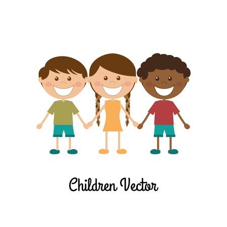 camaraderie: kids design over white  background vector illustration