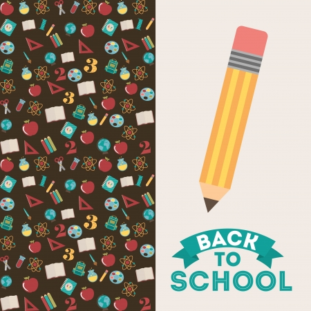 back to school over white background vector illustration Vector