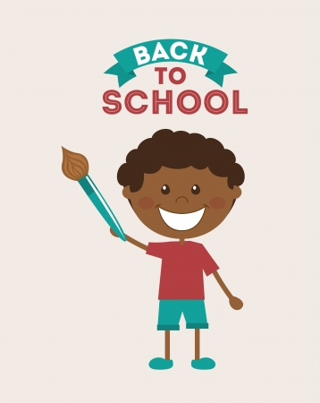 back to school over pink background vector illustration Vector
