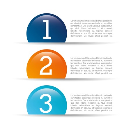 sequential: numbers design over white  background vector illustration