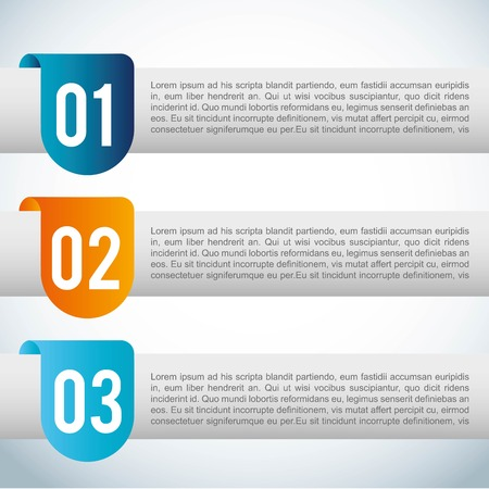 sequential: numbers design over blue  background vector illustration