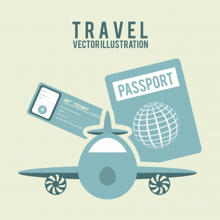travel design  over beige background vector illustration Vector